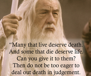 gandalf, LOTR, and quote image