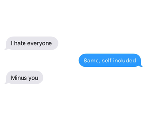 conversation, friendship, and hate image