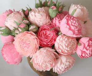 paper flowers and wedding flowers image