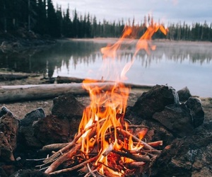 fire, photography, and river image