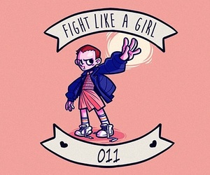 eleven, girl power, and pink image