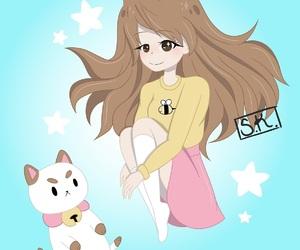 anime, cartoon, and girl image