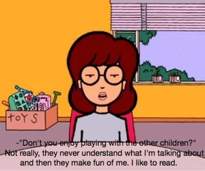 Daria, read, and book image