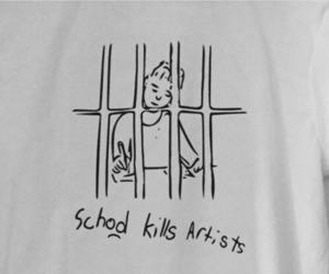 school, artist, and art image