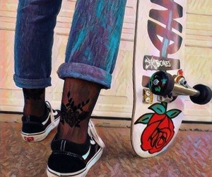 grunge, jeans, and skate image
