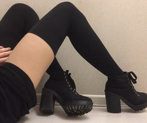 black, style, and legs image