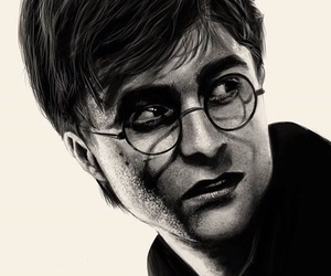 drawing, harry potter, and portrait image