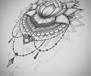 drawing, tattoo, and mandala image