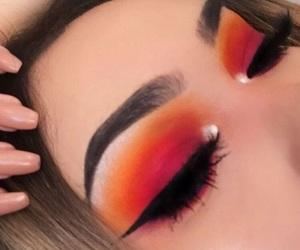 aesthetic, make up, and orange image