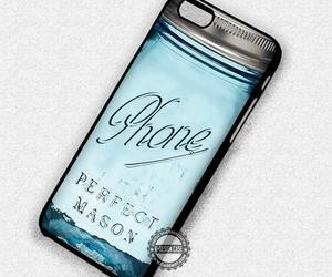 blue, mason jar, and phone cases image