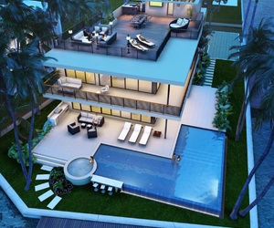 mansion and modern luxury image