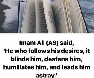 book, quote of the day, and ya ali image