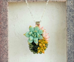 succulent, succulents, and nacklace image