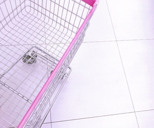 pink and shopping cart image