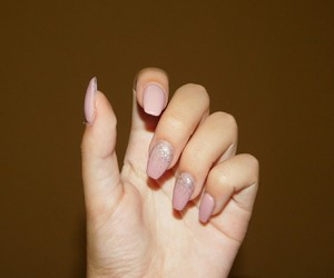 nails, Nude, and shining image