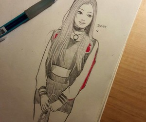 deviantart, kpop, and art drawing image