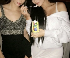 king, kyliejenner, and kendall jenner image