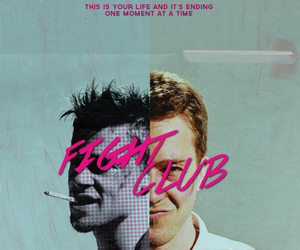 brad pitt, fight club, and edward norton image