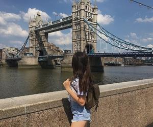 architecture, bag, and bridge image