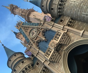 blue, blue sky, and castle image