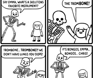 funny, lol, and skeleton image