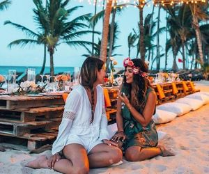 beach, holiday, and best friend image