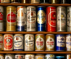 beer, cans, and drink image