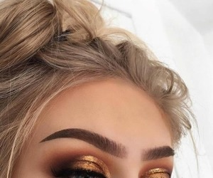blonde, eyeshadow, and make up image