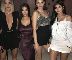 kylie jenner, kendall jenner, and kim kardashian image