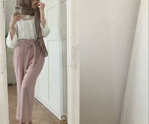 fashion, hijab, and pink image