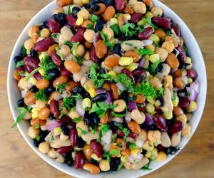 garbanzo beans, black beans, and kidney beans image
