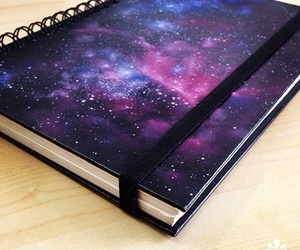 galaxy, notebook, and school image