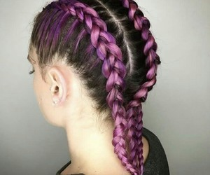 aesthetic, tresse, and beauty image