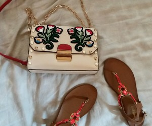 bag, fashion, and roses image