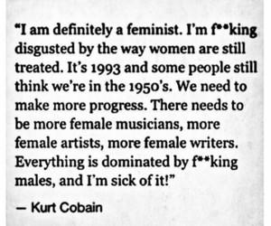 feminism, feminist, and kurt cobain image