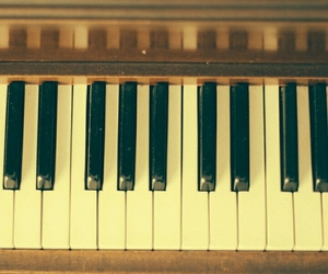 black keys, piano, and piano keys image