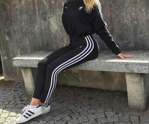 adidas, black, and body image