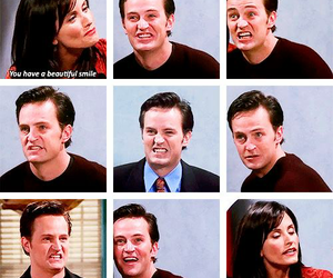 chandler bing, monica geller, and f.r.i.e.n.d.s image
