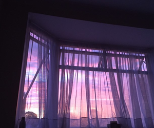 purple, sky, and window image