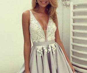 homecoming dress, homecoming dresses, and v-neck homecoming dresses image