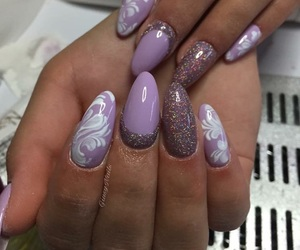 glitter, nails, and sparkles image
