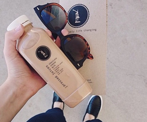 drink, sunglasses, and tumblr image