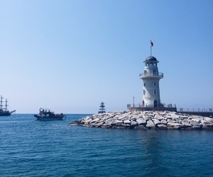 lighthouse, sea, and turkey image