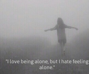 alone, Darkness, and quotes image