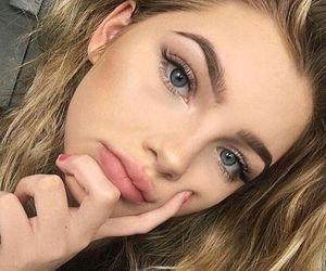 blue eyes, girls, and model image