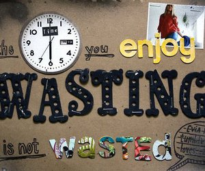 time, enjoy, and text image
