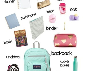backpack, my, and school image