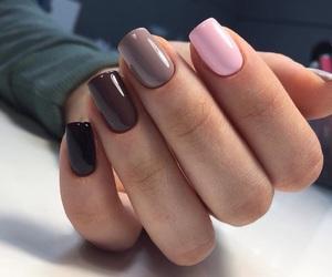 nails, girl, and brown image