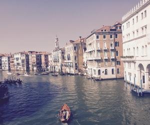 boat, italy, and venezia image