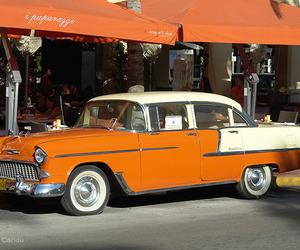 cars, orange, and street photography image
